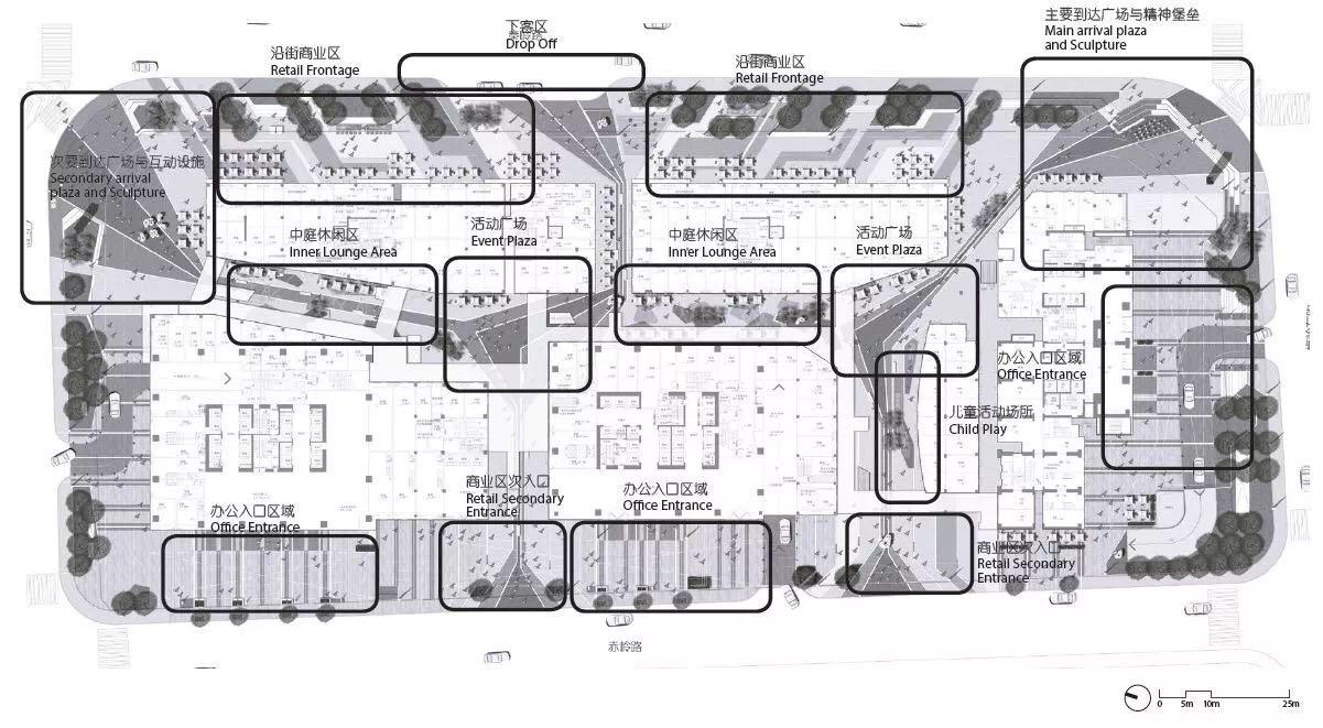 山东青岛南信控股环球金融中心景观设计/澳派景观
