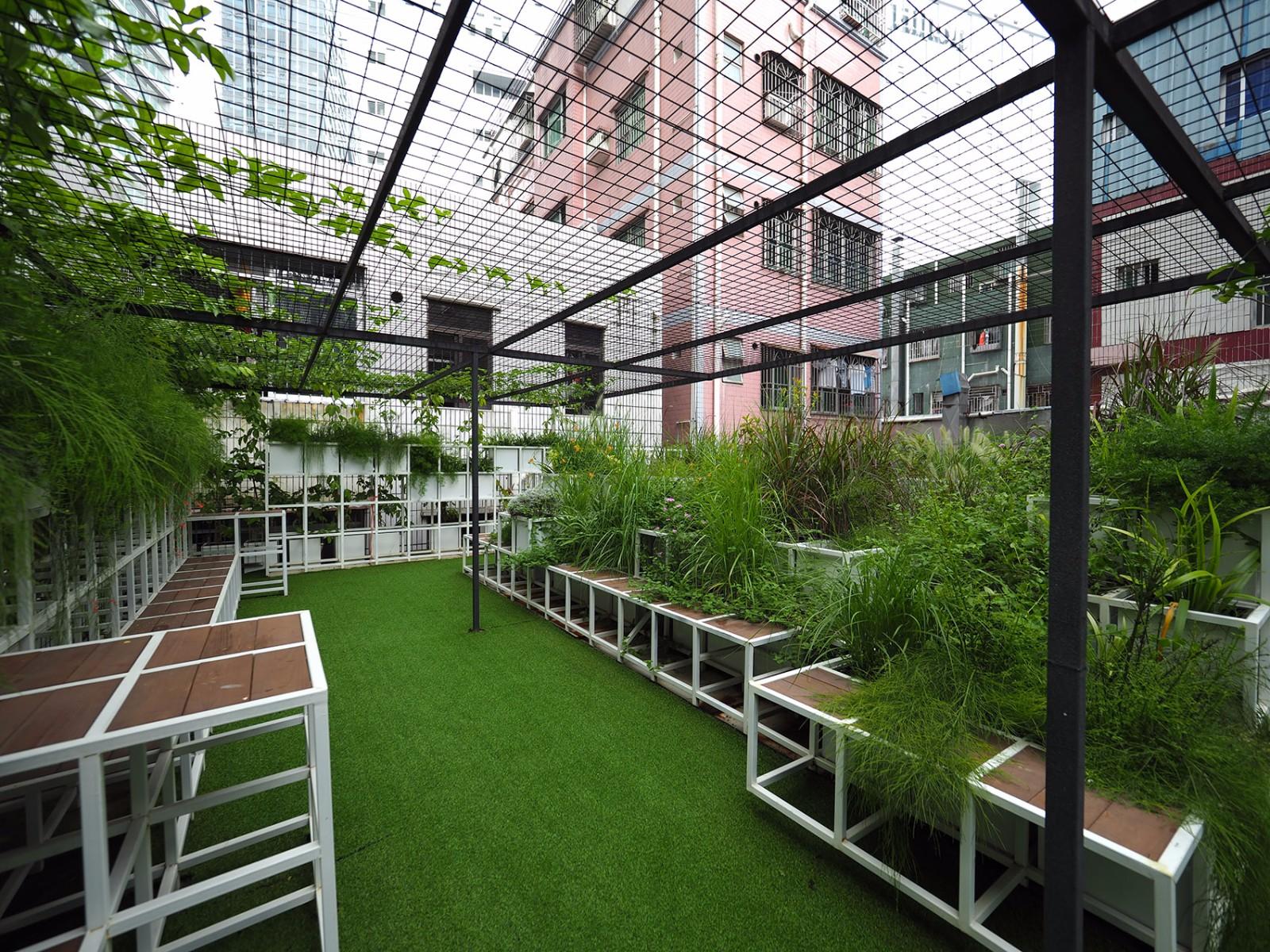 深圳城上绿云城中村屋顶花园景观设计/筑博设计