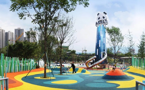 四川雅安市熊猫绿岛公园景观letou国际米兰下载/清华同衡