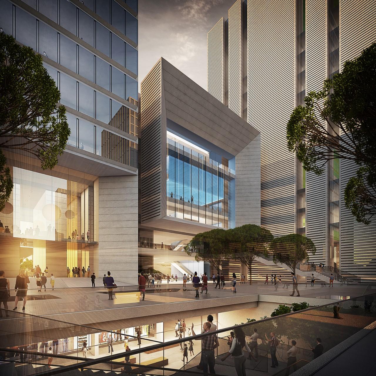 深圳恒力集团办公大楼建筑设计中标方案/GMP