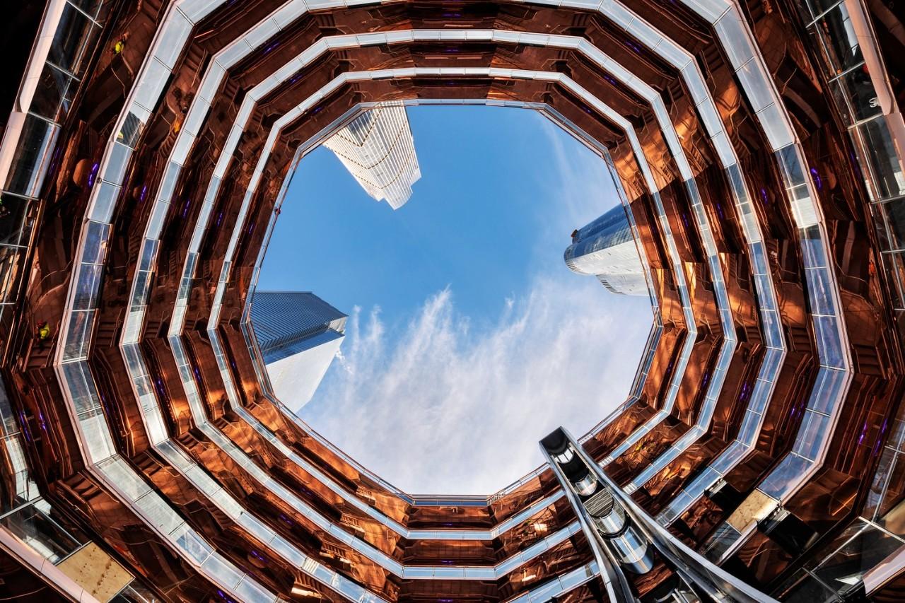 纽约哈德逊广场网红巨型钢结构公共景观楼梯Vessel设计/Heatherwick Studio
