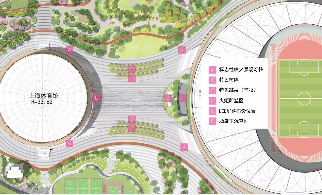上海徐家汇体育公园景观设计/HPP