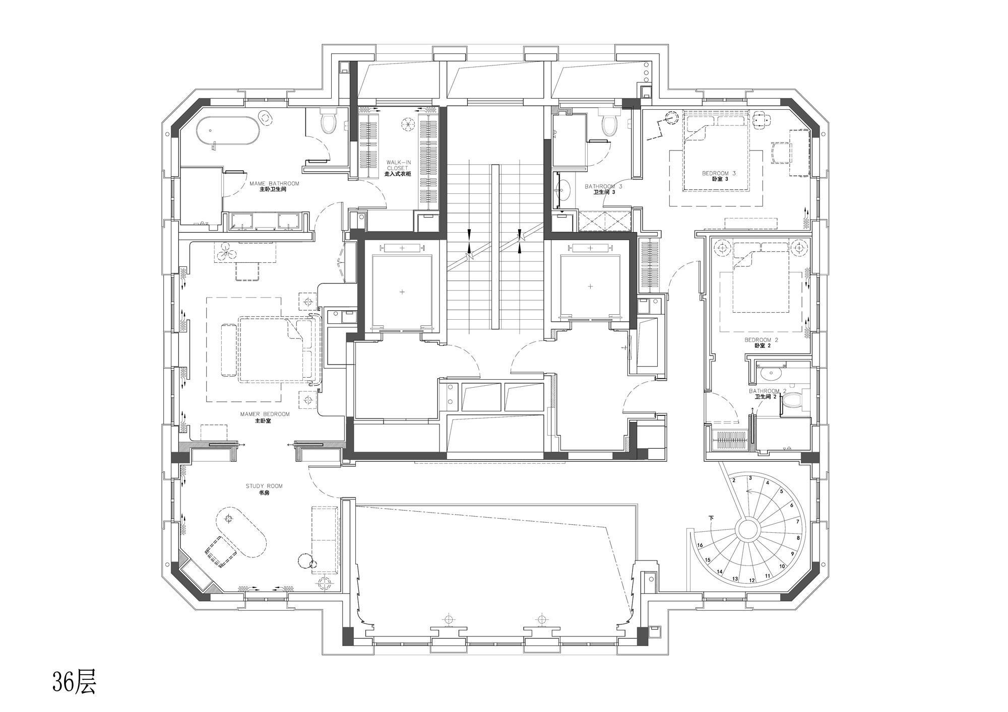 杭州万科大都会79号空中顶层复式室内设计/MDO木君建筑