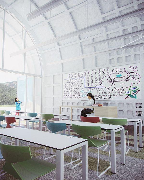 江西南昌庐山小学建筑设计/扎哈哈迪德事务所