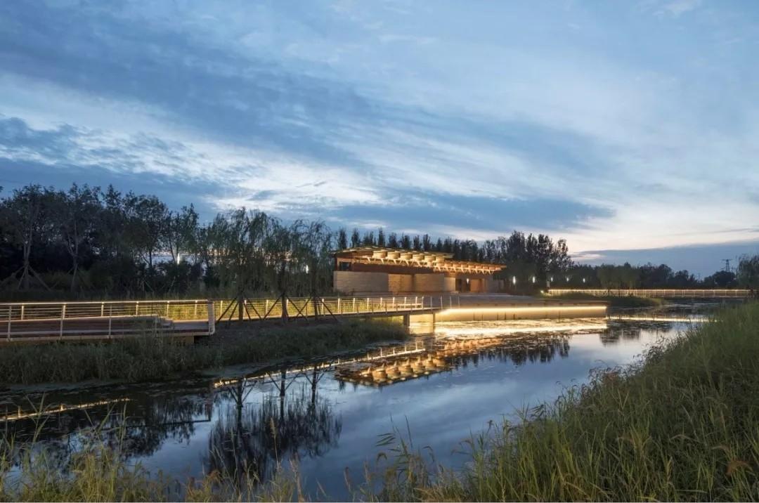 河北河间古洋河公园临水亭榭建筑设计/原筑景观