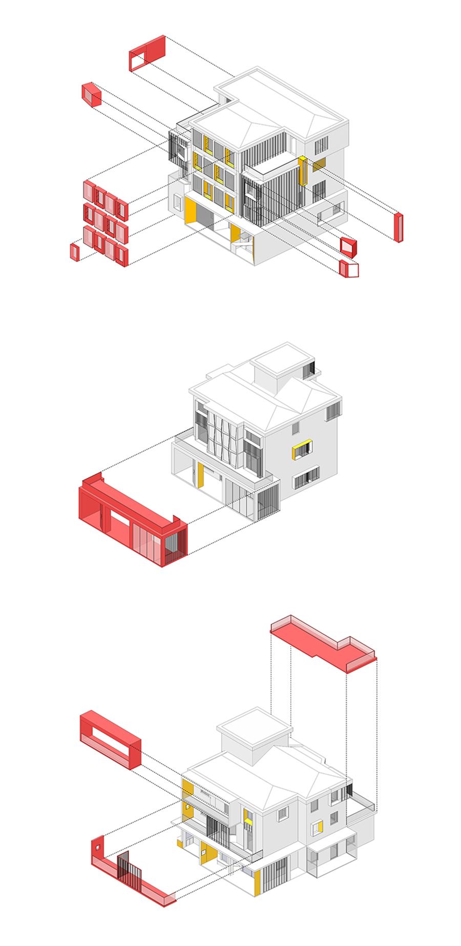 浙江海宁虹越园艺社区农村自建房  改造设计  /  森上设计