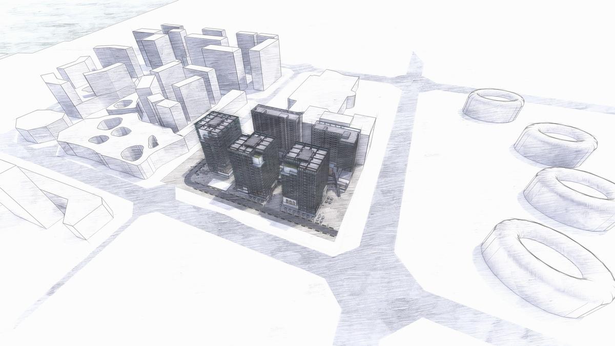 四川成都昌鑫青羊万和中心建筑设计/成执设计