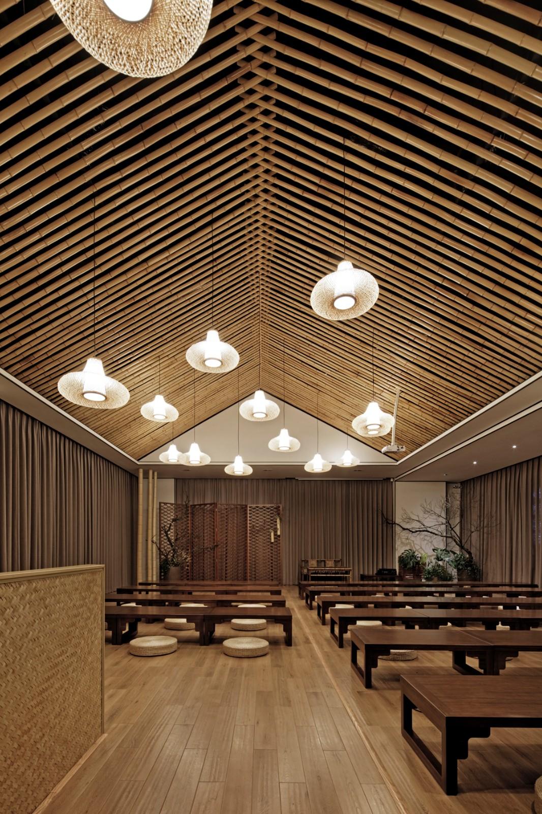浙江安吉灵峰寺讲堂室内设计/上海善祥建筑