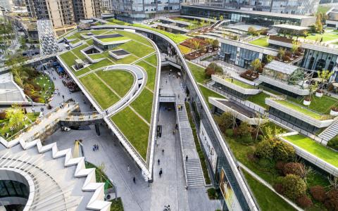 上海绿地中心城市公园建筑letou国际米兰下载/上海日建letou国际米兰下载