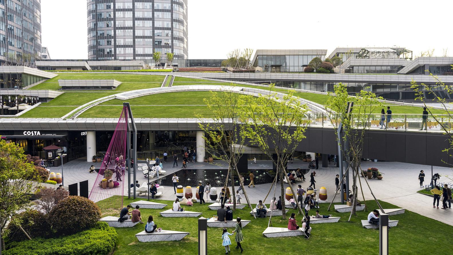 上海绿地中心城市公园建筑设计/上海日建设计