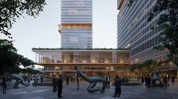 上海 huamu lot 10空中画廊综合体建筑设计/KPF