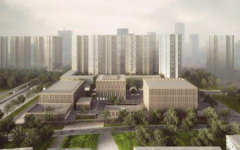深圳龙华美术馆和图书馆竞赛建筑方案letou国际米兰下载/Mecanoo