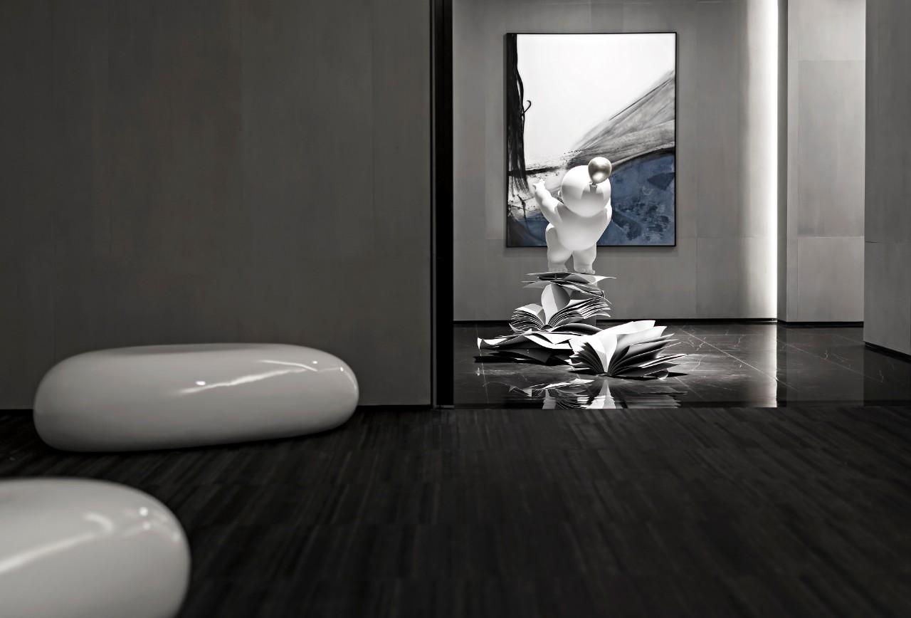湖南长沙卓越青竹湖营销中心室内设计/盘石室内设计