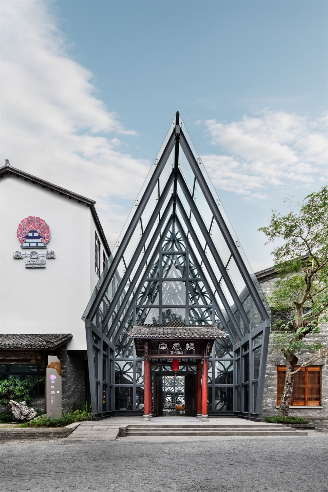 深圳甘坑小镇南香楼艺术酒店设计/贝森豪斯设计