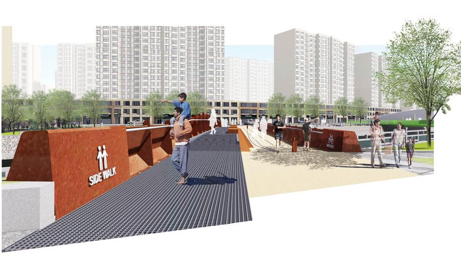 山东青岛万科未来城景观桥设计/奥雅设计