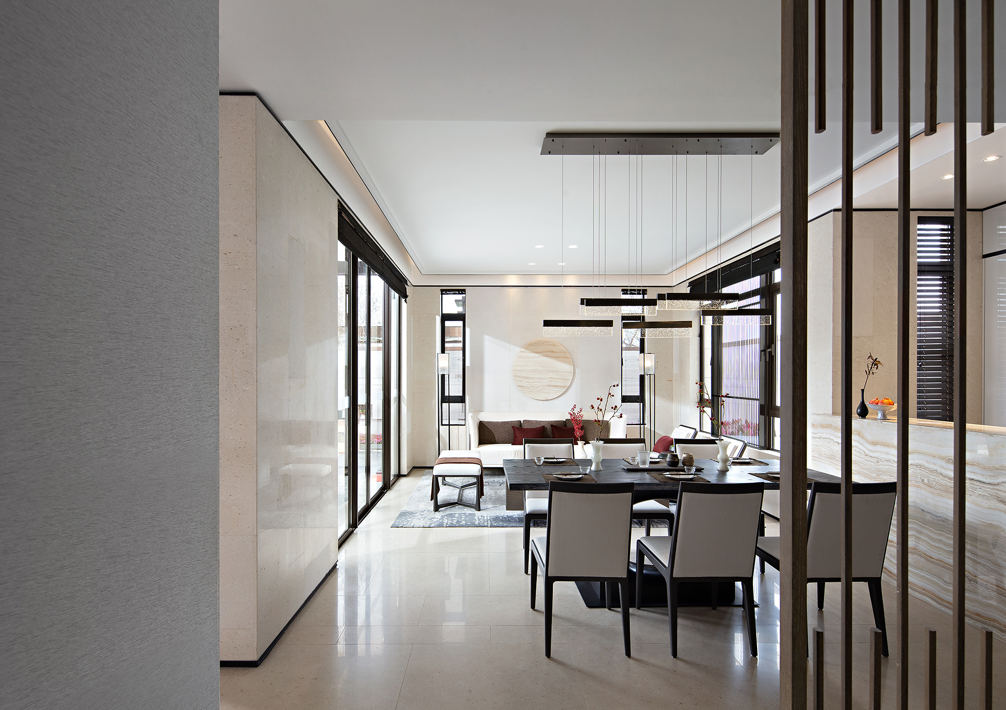佛山信业阳光城檀悦合院样板房室内设计/意巢设计