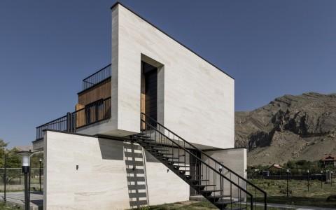 伊朗简约独立住宅建筑letou国际米兰下载/White Cube Atelier