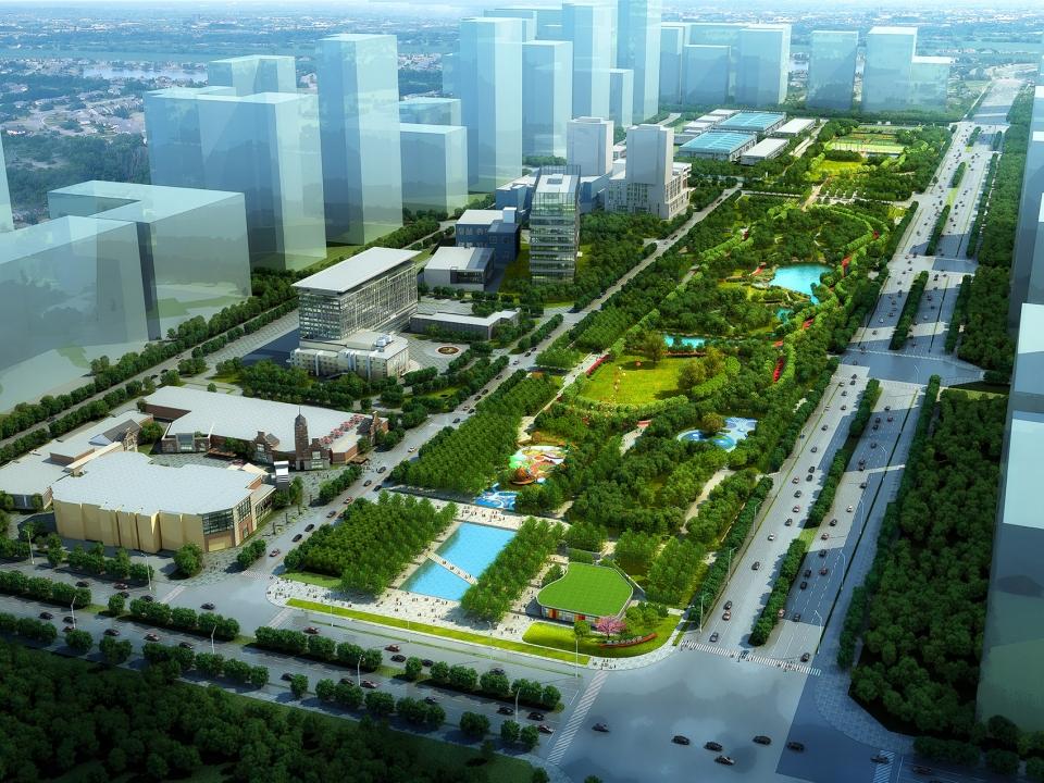 河北固安中央公園景觀設計/易蘭規劃設計院