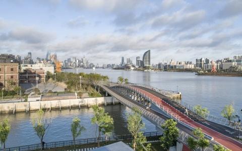 上海洋泾港步行桥/刘宇扬建筑事务所