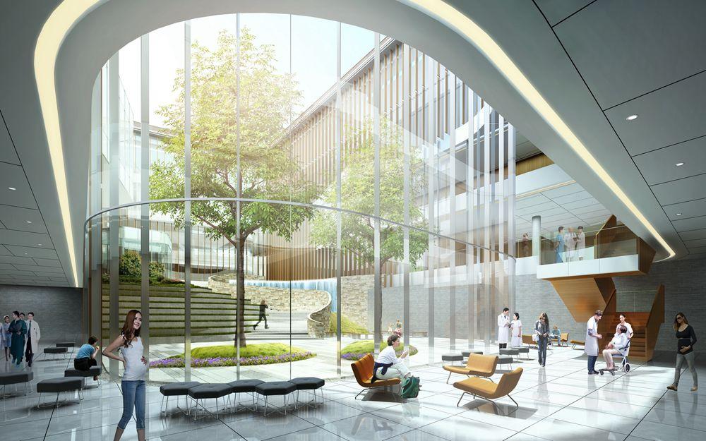 上海复旦大学附属妇产科医院(上海红房子妇产科医院)青浦分院中标方案建筑设计/TJAD同济设计
