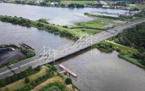 德国汉堡A1联邦高速公路北易北河桥中标方案/gmp、LAP