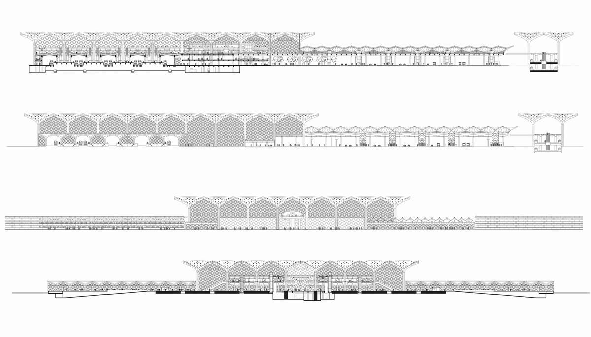 沙特阿拉伯哈拉曼高铁站建筑设计/福斯特建筑事务所