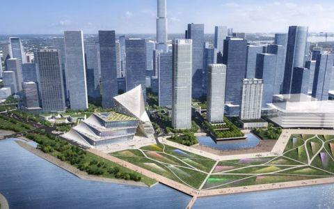 前海国际金融交流中心中标建筑方案letou国际米兰下载/OMA+CCDI
