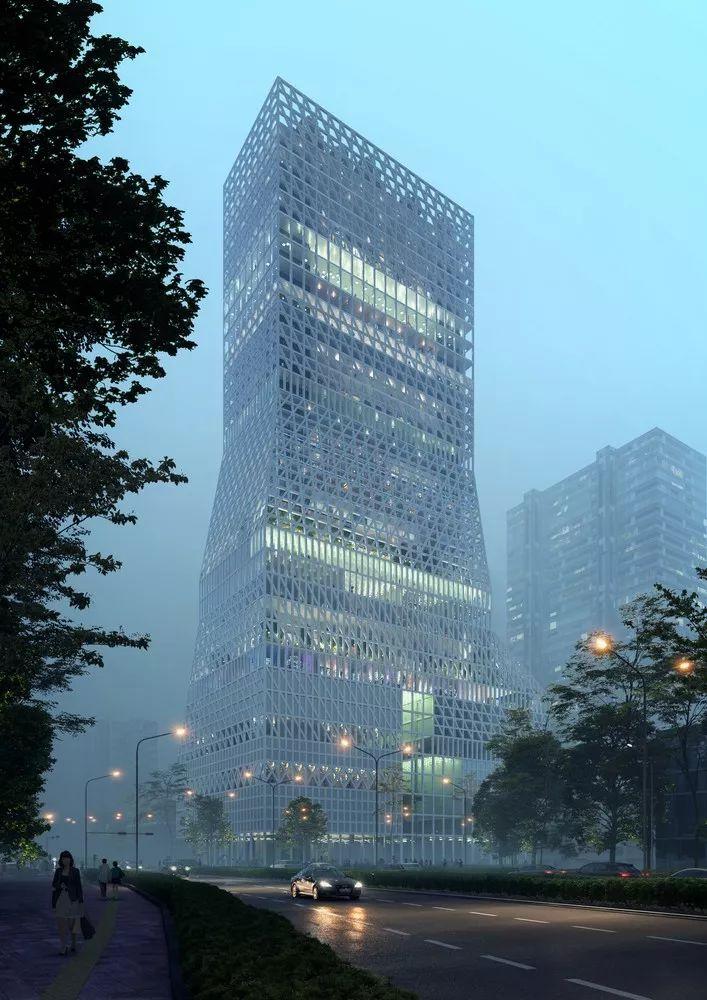 深圳福田市民文化中心方案竞赛一等奖方案/Mecanoo