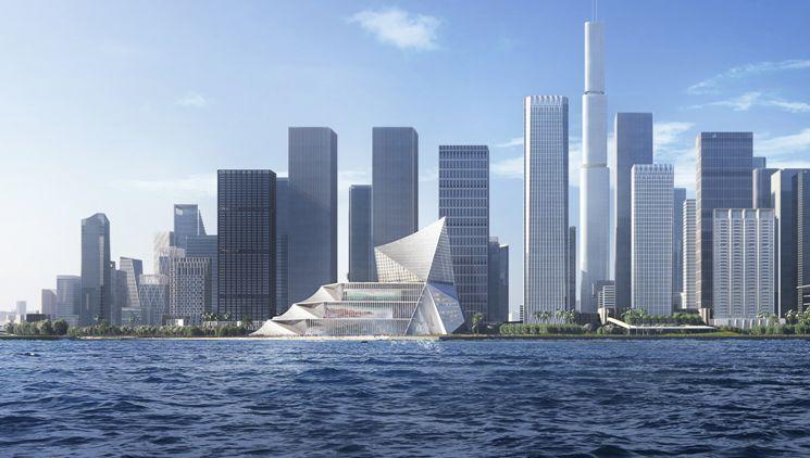 前海国际金融交流中心中标建筑方案设计/OMA+CCDI