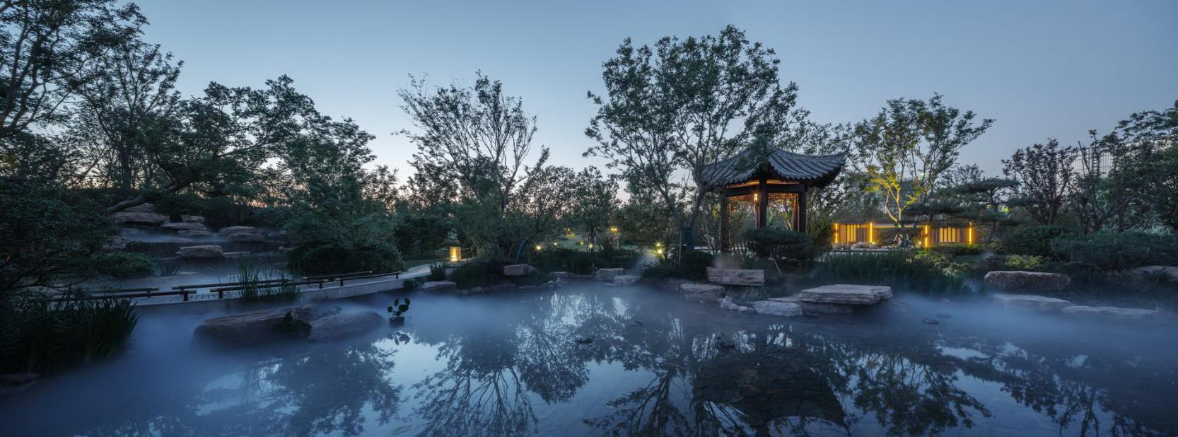 绿地·溱水小镇景观示范区景观设计/墨刻景观