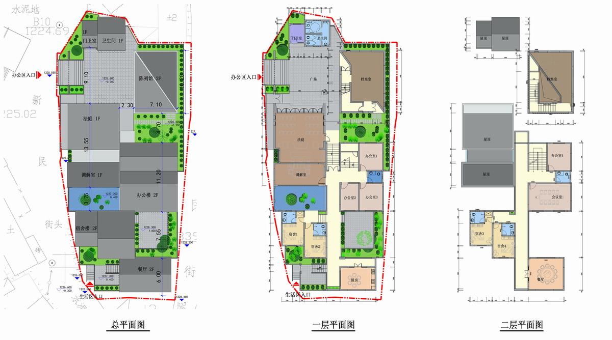 云南普洱市磨黑法庭及配套建筑设计/致大建筑工作室/正东设计