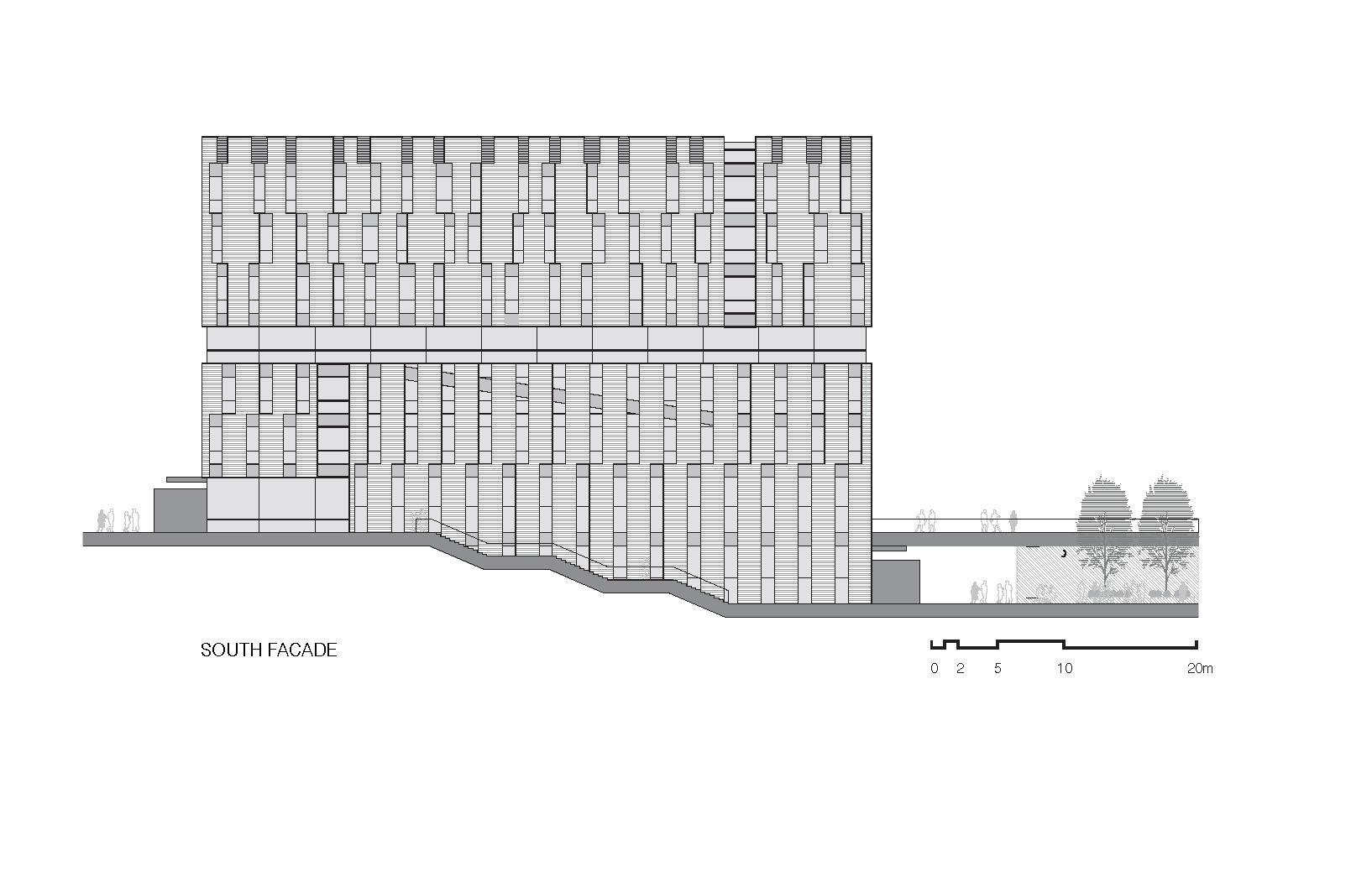 清华大学法学院图书馆建筑设计/KOKAISTUDIOS