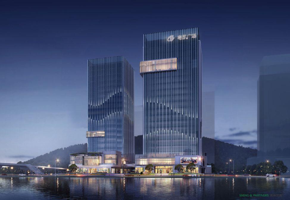 珠海横琴天庆粤凯广场建筑设计/汉森伯盛