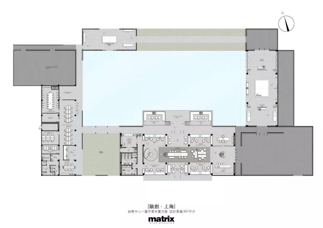 港龙融創上海•山水拾間销售中心室内设计/矩阵纵横