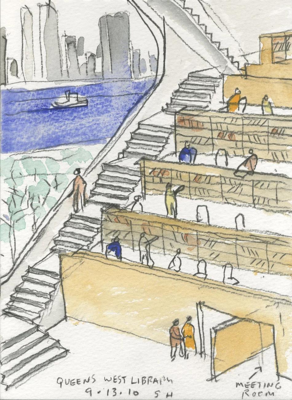 纽约皇后区猎人角图书馆/史蒂文·霍尔