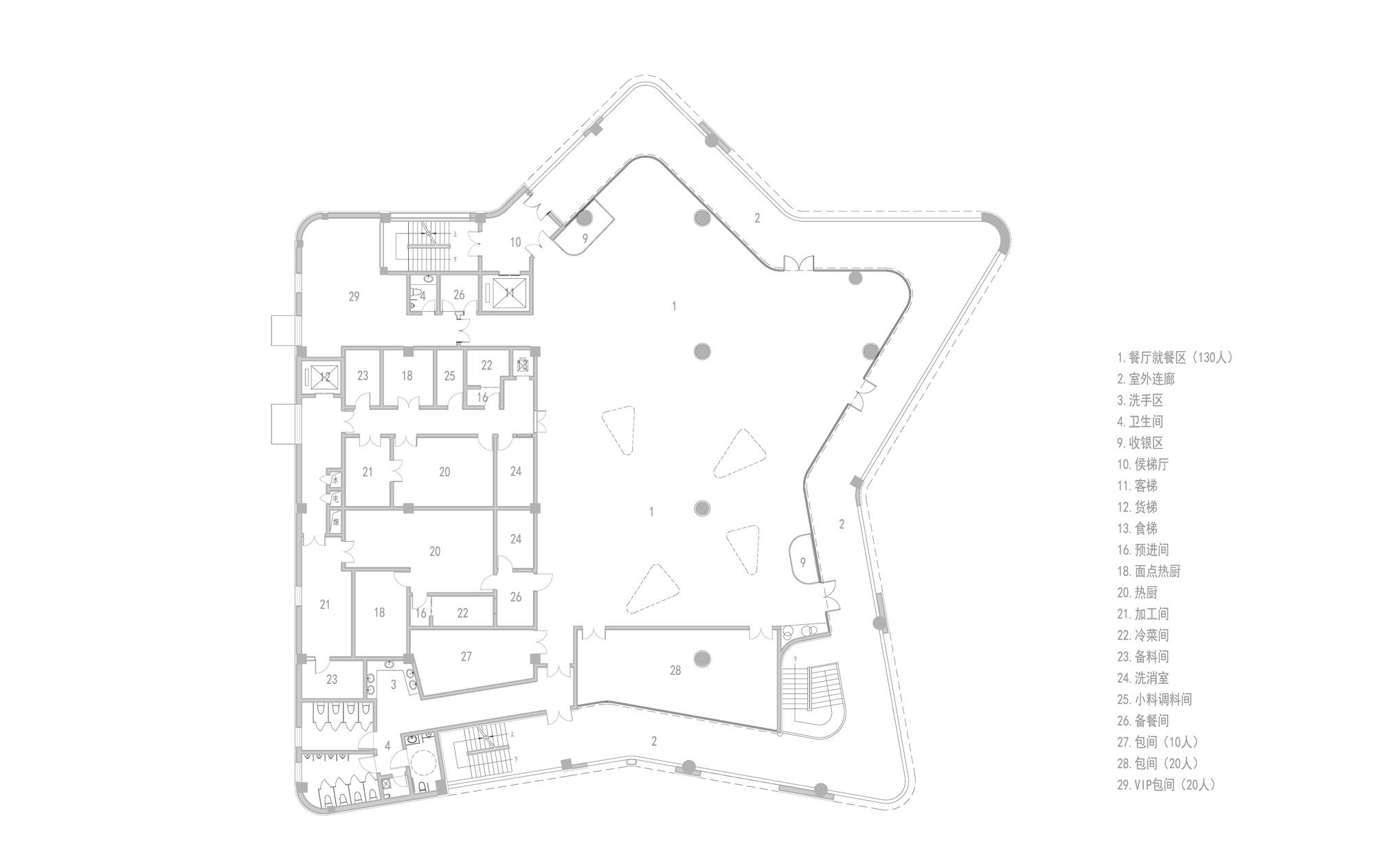 远洋蔚蓝海岸第三食堂—北北美食中心建筑设计/上海彬占
