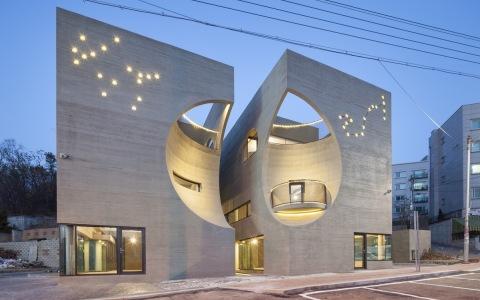 韩国双月楼文化中心建筑letou国际米兰下载/Moon Hoon