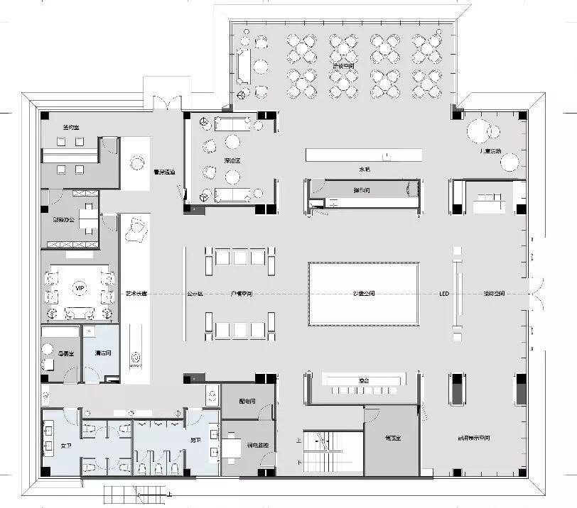 合肥禹洲雍荣府售楼处室内设计/易和设计