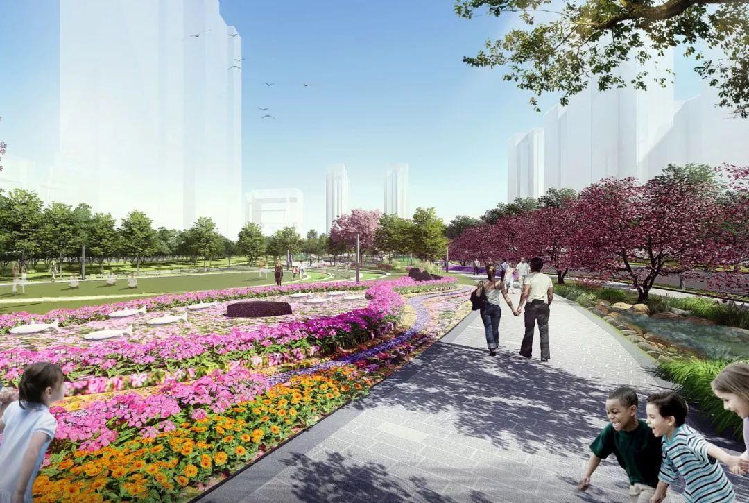 宜宾高铁新城中轴公园景观设计 / QUAD扩道建筑设计