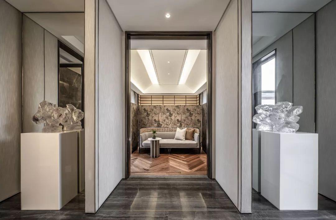上虞江南里中式合院样板间室内设计 / 万境室内设计