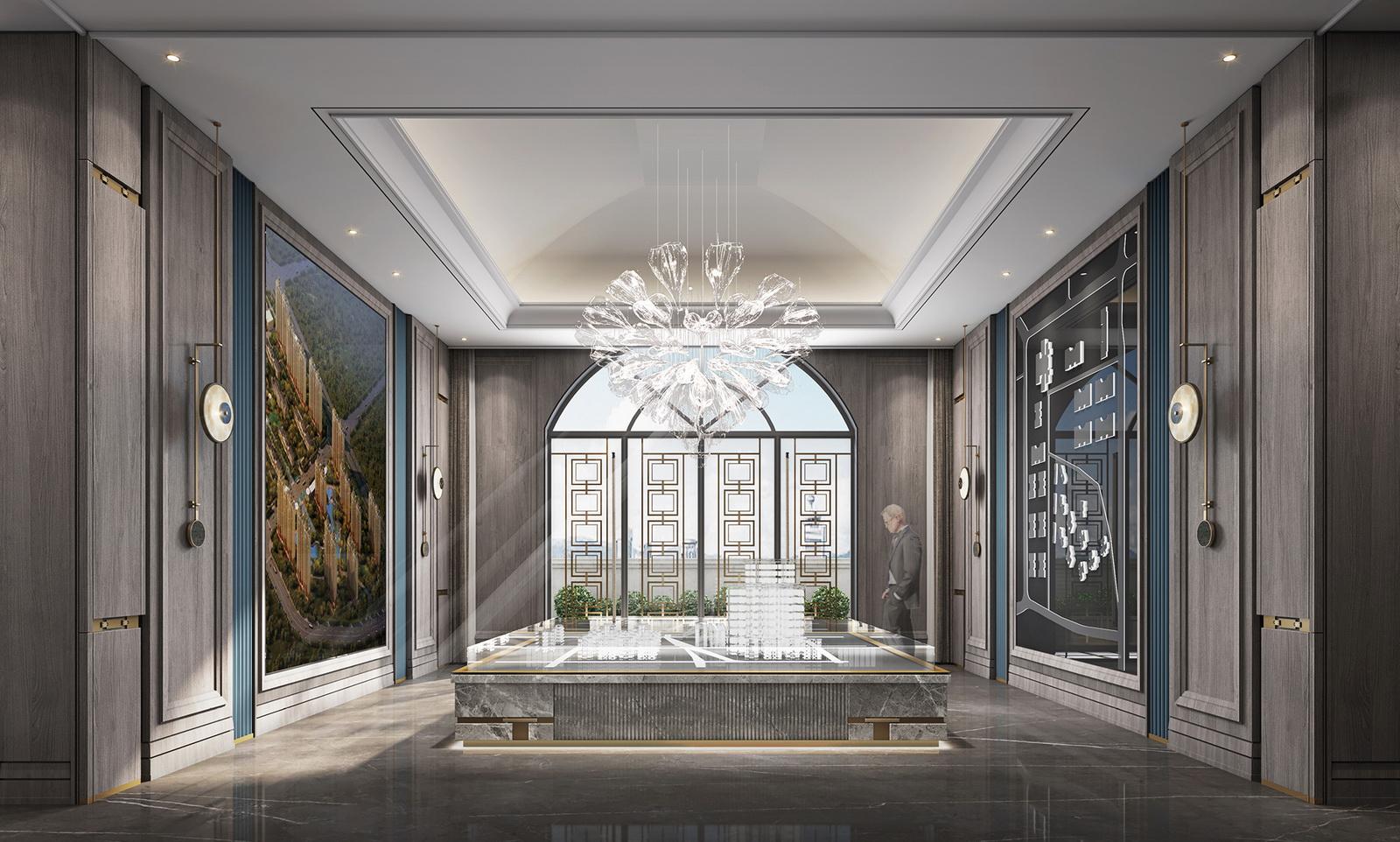 北京天润香墅湾1号营销中心室内设计 / 派尚设计