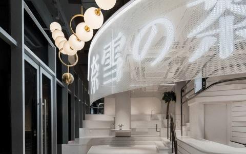 上海宝山区奈雪的茶新店 室内letou国际米兰下载 / KWSD境物建筑事务所