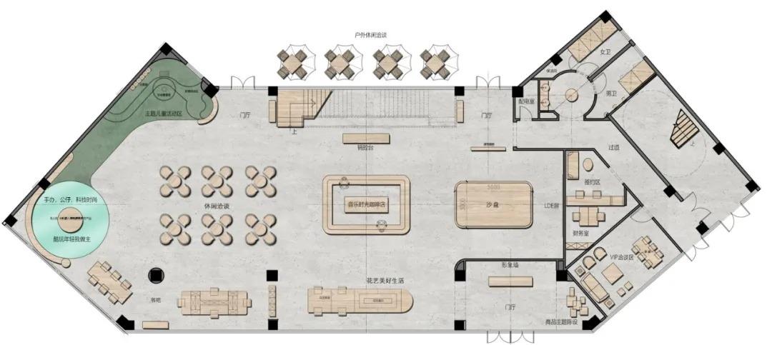 南京卓越蔚蓝星宸艺术生活馆 室内设计 /  易和设计