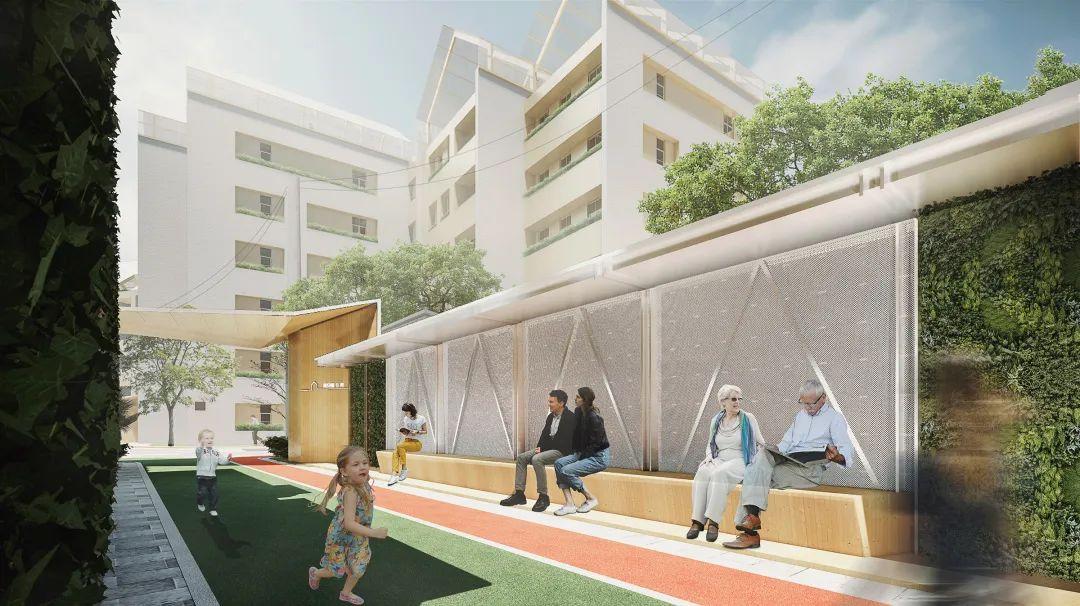 上海高安路9弄小区更新实践 建筑设计 /  日清设计