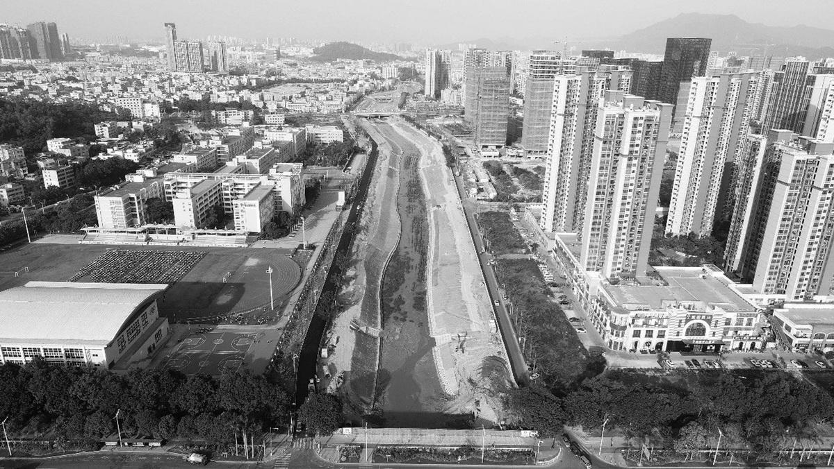 深圳坪山高级中学跨河人行桥  /  南沙原创