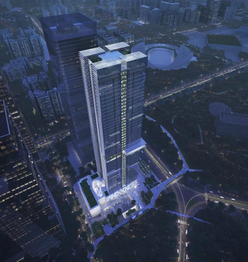深圳宝安中心区A002-0077地块中标方案 建筑设计 / 立方设计