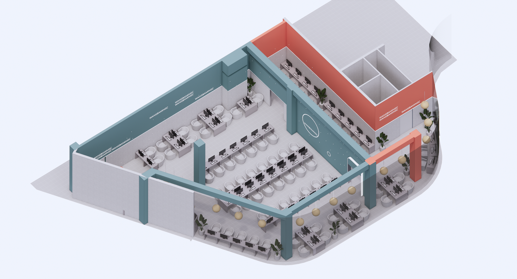 成都 星空网吧 室内设计 / 平介设计