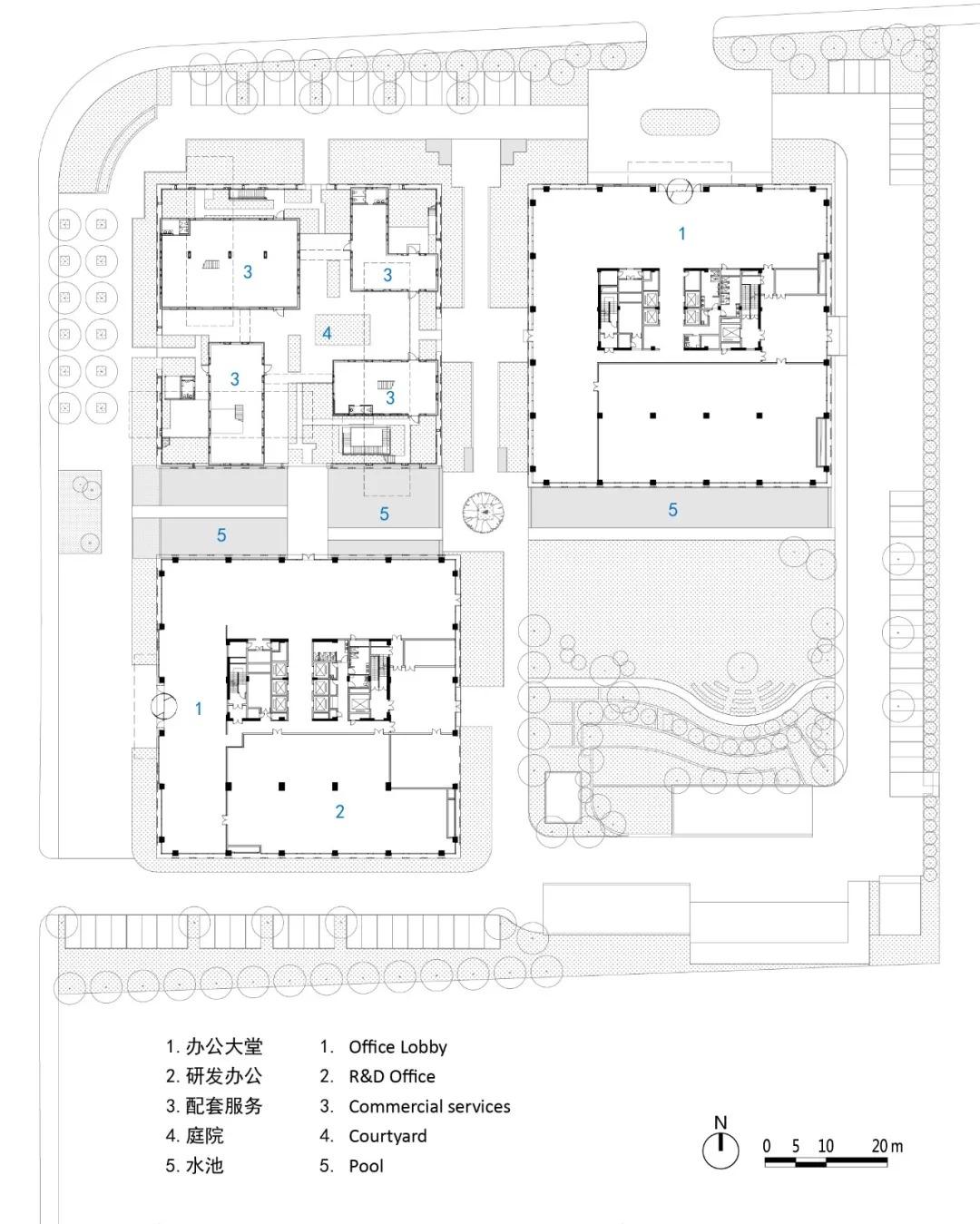 张江高科技园区 张润大厦 建筑设计  /  山水秀建筑事务所