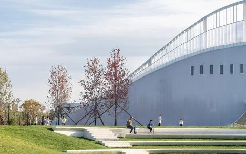 廊坊三叶公园营销体验中心——Instant Peak未来舱  建筑letou国际米兰下载 /  Wutopia Lab