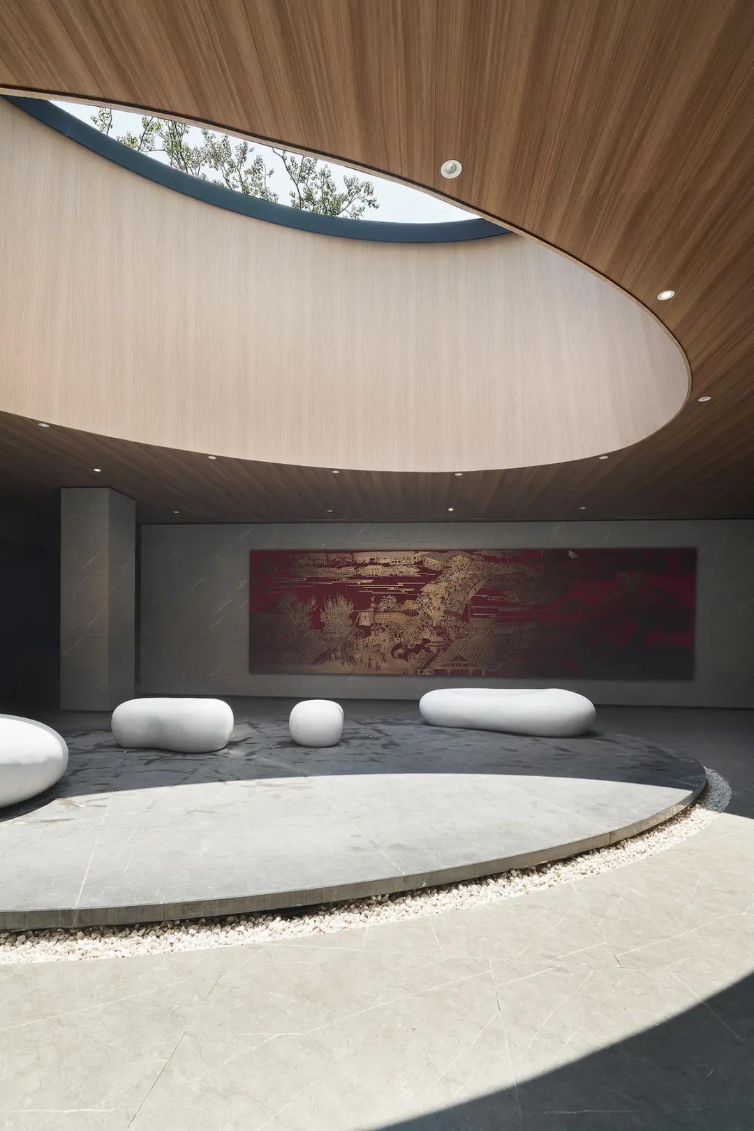 金山建发金玥湾售楼处 室内软装设计 /  乐尚设计